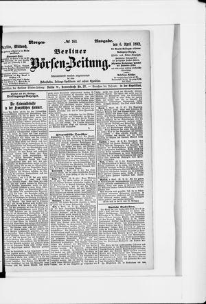 Berliner Börsen-Zeitung vom 06.04.1892