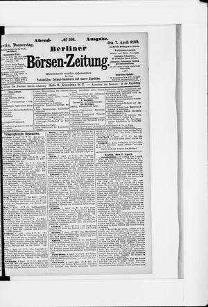 Berliner Börsen-Zeitung vom 07.04.1892