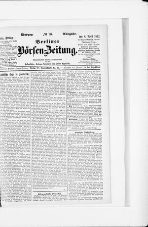 Berliner Börsen-Zeitung vom 08.04.1892