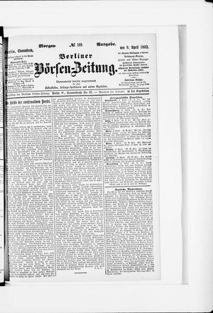 Berliner Börsen-Zeitung vom 09.04.1892
