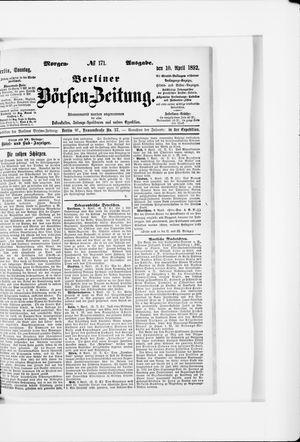 Berliner Börsen-Zeitung vom 10.04.1892