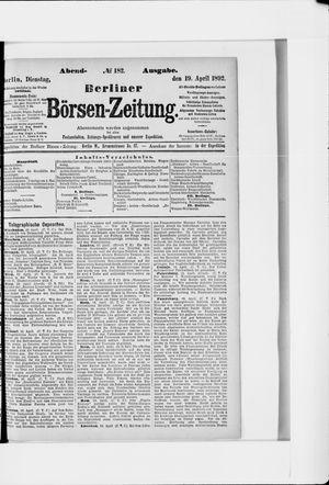 Berliner Börsen-Zeitung vom 19.04.1892