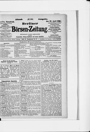 Berliner Börsen-Zeitung vom 30.04.1892