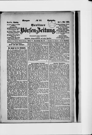 Berliner Börsen-Zeitung vom 01.05.1892