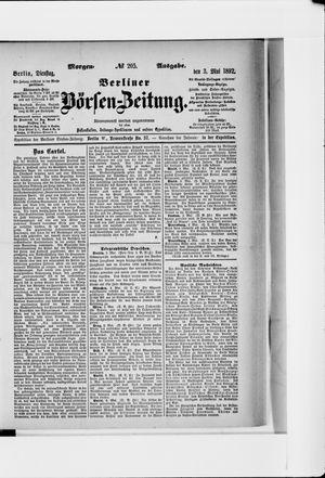 Berliner Börsen-Zeitung vom 03.05.1892