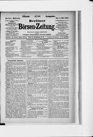 Berliner Börsen-Zeitung vom 04.05.1892