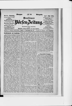 Berliner Börsen-Zeitung vom 05.05.1892