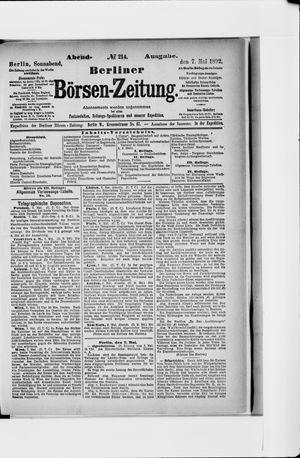 Berliner Börsen-Zeitung vom 07.05.1892