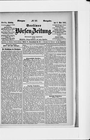 Berliner Börsen-Zeitung vom 08.05.1892