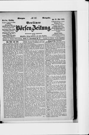 Berliner Börsen-Zeitung on May 10, 1892
