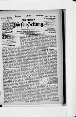 Berliner Börsen-Zeitung vom 11.05.1892