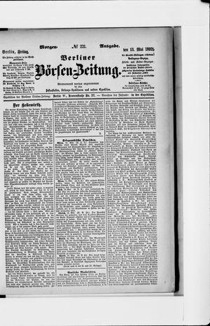 Berliner Börsen-Zeitung vom 13.05.1892