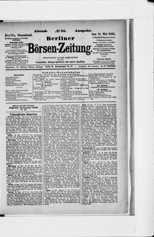 Berliner Börsen-Zeitung vom 14.05.1892