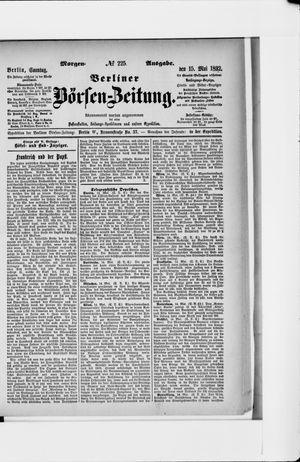 Berliner Börsen-Zeitung vom 15.05.1892