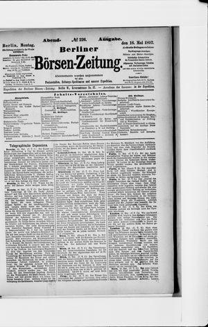 Berliner Börsen-Zeitung vom 16.05.1892