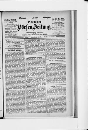 Berliner Börsen-Zeitung vom 18.05.1892