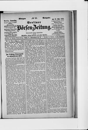 Berliner Börsen-Zeitung vom 19.05.1892