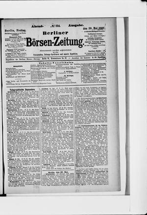Berliner Börsen-Zeitung vom 20.05.1892