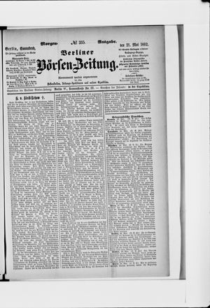 Berliner Börsen-Zeitung vom 21.05.1892