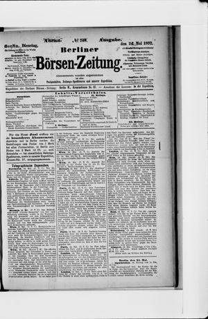 Berliner Börsen-Zeitung vom 24.05.1892