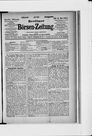 Berliner Börsen-Zeitung vom 25.05.1892