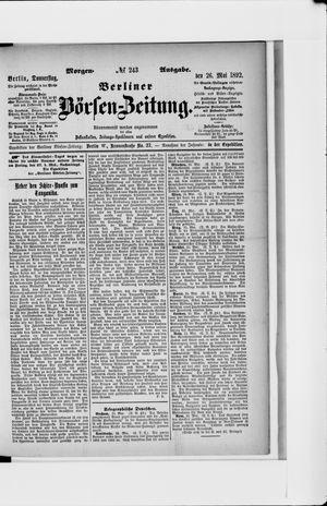 Berliner Börsen-Zeitung vom 26.05.1892