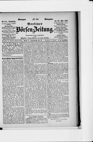 Berliner Börsen-Zeitung vom 28.05.1892