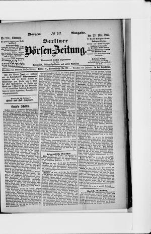 Berliner Börsen-Zeitung vom 29.05.1892