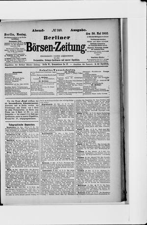 Berliner Börsen-Zeitung vom 30.05.1892