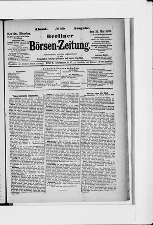 Berliner Börsen-Zeitung on May 31, 1892