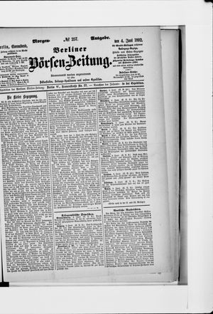 Berliner Börsen-Zeitung vom 04.06.1892