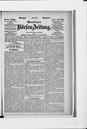 Berliner Börsen-Zeitung vom 05.06.1892