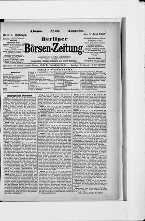 Berliner Börsen-Zeitung vom 08.06.1892