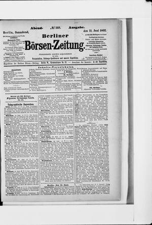 Berliner Börsen-Zeitung vom 11.06.1892
