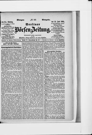 Berliner Börsen-Zeitung vom 12.06.1892
