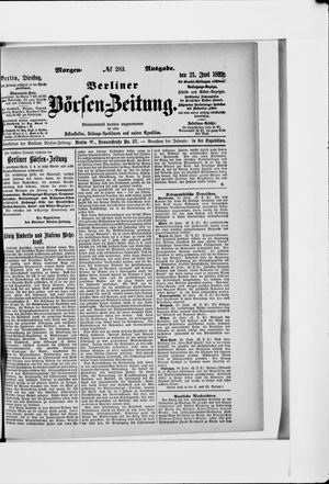 Berliner Börsen-Zeitung vom 21.06.1892