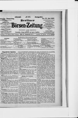 Berliner Börsen-Zeitung vom 23.06.1892