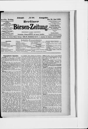 Berliner Börsen-Zeitung vom 24.06.1892
