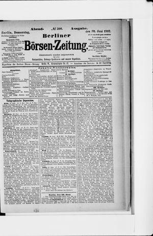 Berliner Börsen-Zeitung vom 30.06.1892