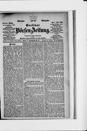 Berliner Börsen-Zeitung vom 01.07.1892
