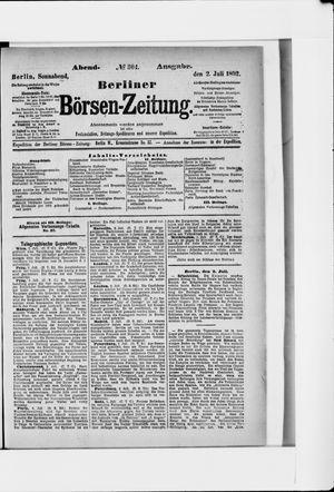 Berliner Börsen-Zeitung vom 02.07.1892