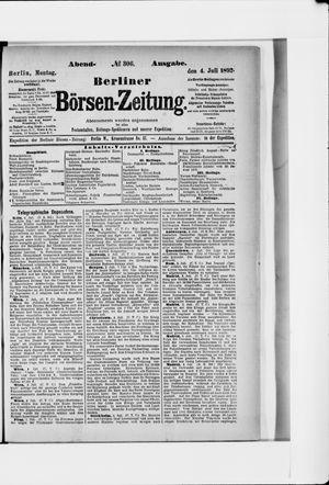 Berliner Börsen-Zeitung on Jul 4, 1892