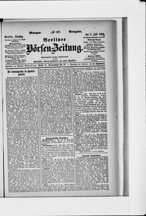 Berliner Börsen-Zeitung vom 05.07.1892