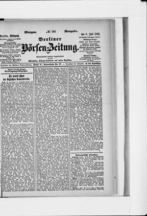 Berliner Börsen-Zeitung vom 06.07.1892