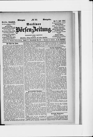 Berliner Börsen-Zeitung vom 09.07.1892