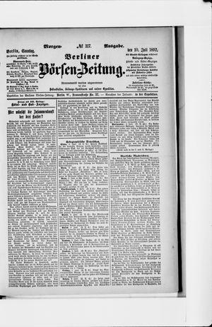 Berliner Börsen-Zeitung vom 10.07.1892