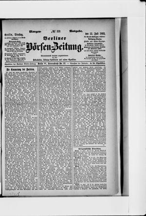 Berliner Börsen-Zeitung vom 12.07.1892