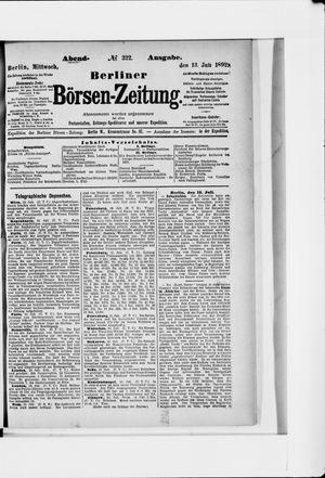 Berliner Börsen-Zeitung vom 13.07.1892