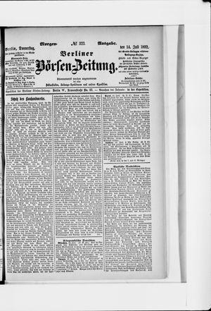Berliner Börsen-Zeitung vom 14.07.1892
