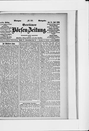 Berliner Börsen-Zeitung vom 15.07.1892